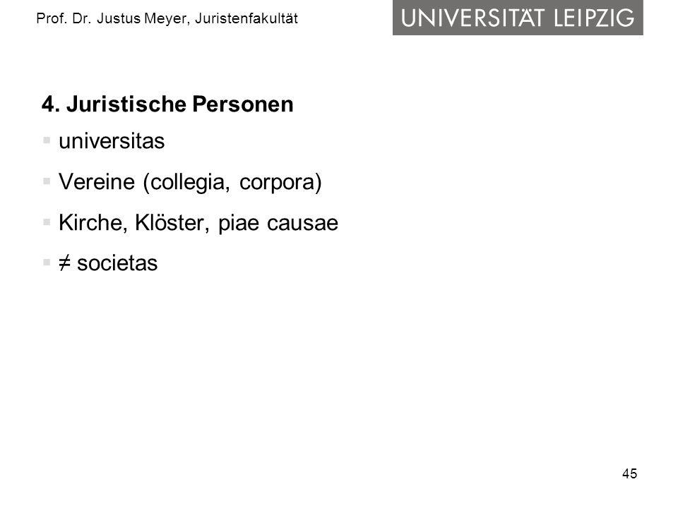 45 Prof.Dr. Justus Meyer, Juristenfakultät 4.