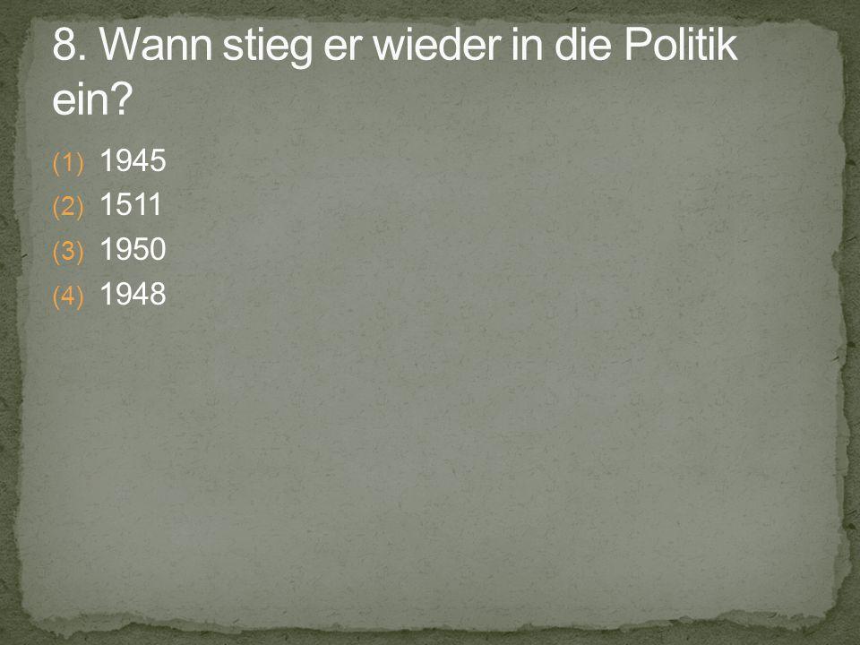 (1) 1945 (2) 1511 (3) 1950 (4) 1948
