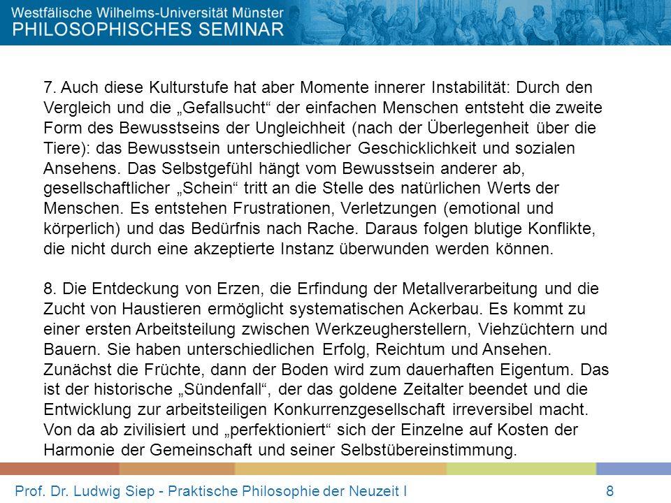 Prof.Dr. Ludwig Siep - Praktische Philosophie der Neuzeit I8 7.