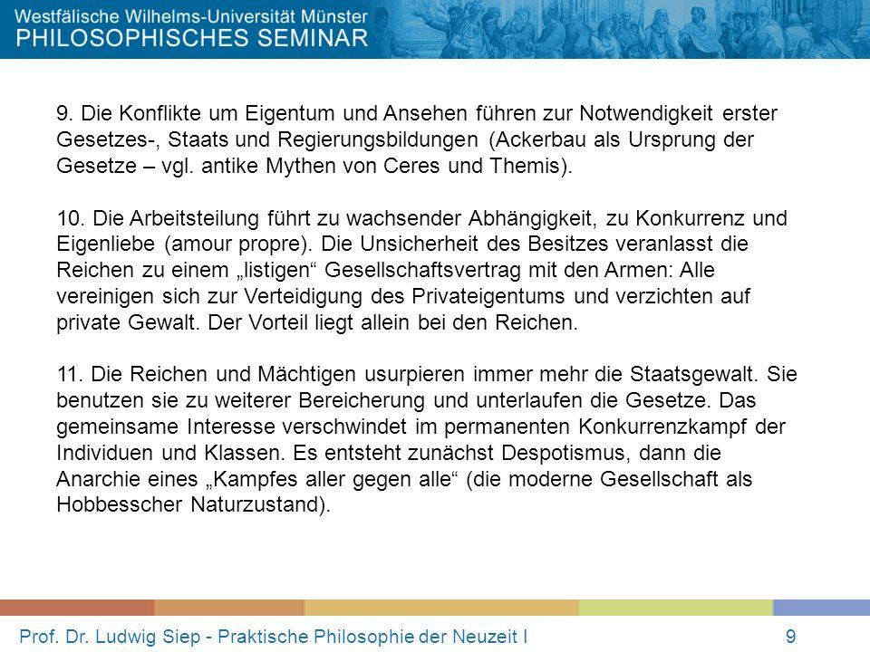 Prof.Dr. Ludwig Siep - Praktische Philosophie der Neuzeit I9 9.