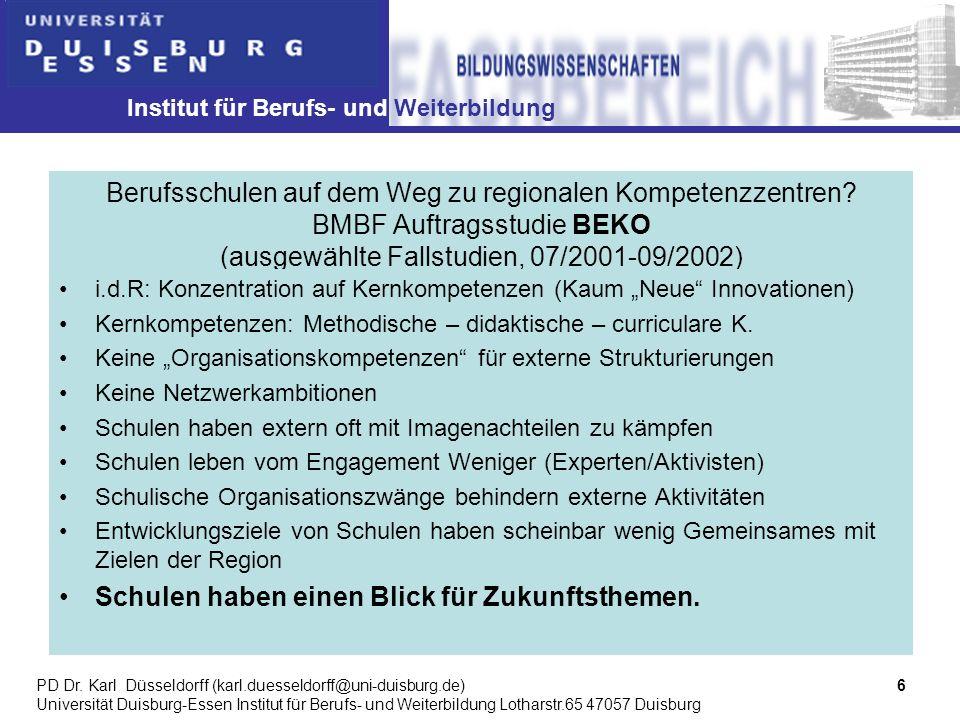 Institut für Berufs- und Weiterbildung 7PD Dr.