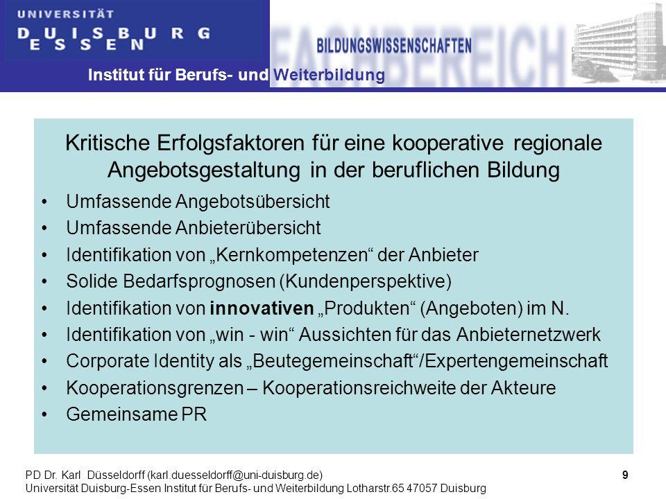 Institut für Berufs- und Weiterbildung 9PD Dr.