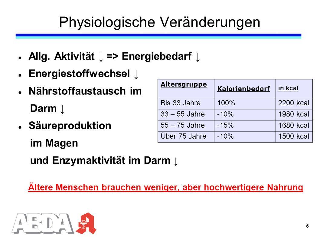 Physiologische Veränderungen Allg.