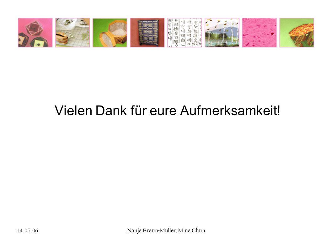 14.07.06Nanja Braun-Müller, Mina Chun Vielen Dank für eure Aufmerksamkeit!