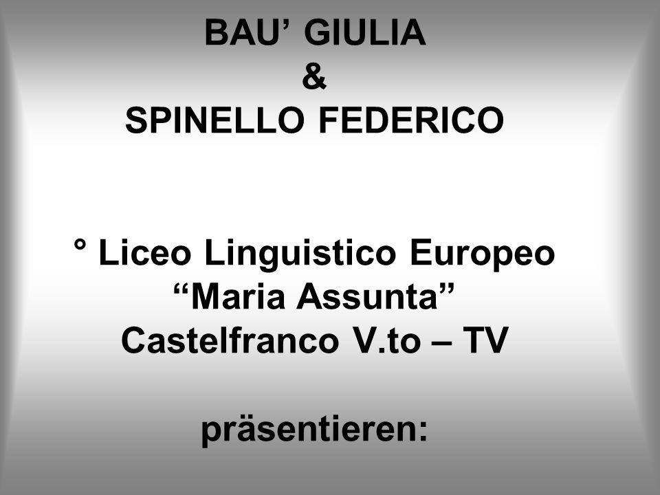 BAU GIULIA & SPINELLO FEDERICO ° Liceo Linguistico Europeo Maria Assunta Castelfranco V.to – TV präsentieren: