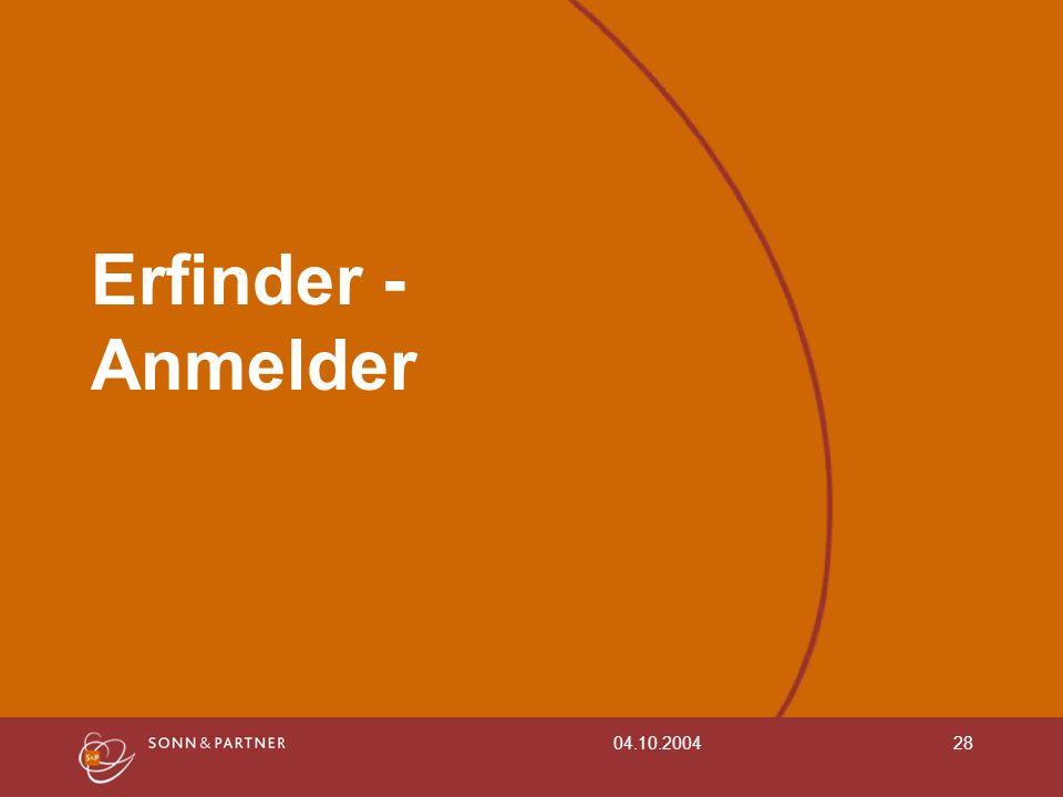 04.10.200428 Erfinder - Anmelder