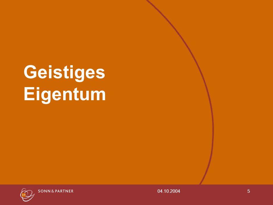 04.10.20045 Geistiges Eigentum