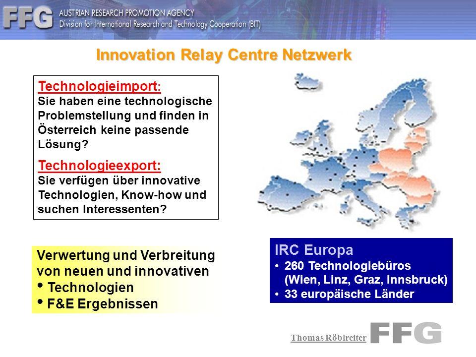Thomas Röblreiter 1) Eigene Forschung & Entwicklung Ressourcen: Zeit, Geld, Personal,....