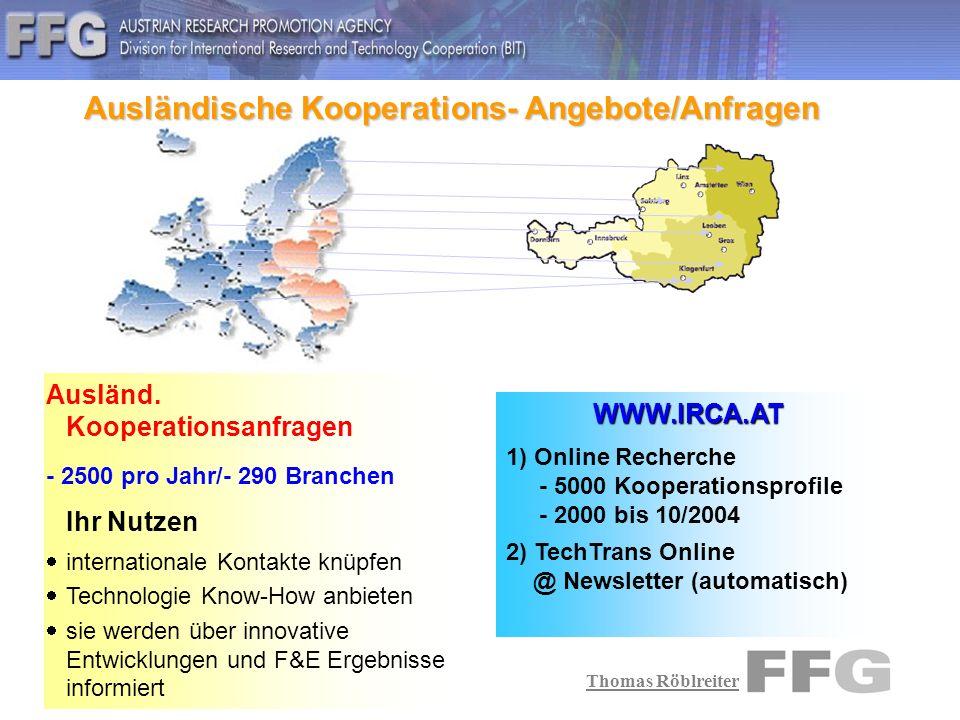 Thomas Röblreiter Aktuelle Kooperationsprofile Lebensmittelverarbeitung