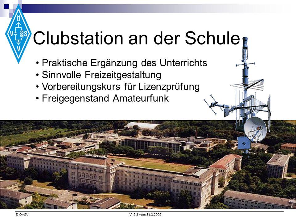© ÖVSVV. 2.3 vom 31.3.2009 Praktische Ergänzung des Unterrichts Sinnvolle Freizeitgestaltung Vorbereitungskurs für Lizenzprüfung Freigegenstand Amateu