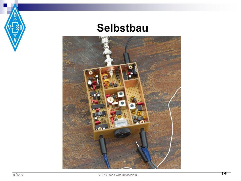 © ÖVSVV. 2.1 / Stand vom Oktober 2008 14 Selbstbau