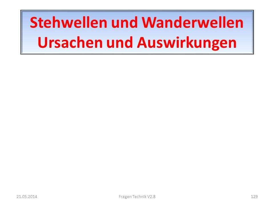 Stehwellen und Wanderwellen Ursachen und Auswirkungen 21.05.2014129Fragen Technik V2.8