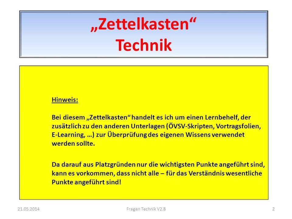 Ohmsches und Kirchhoffsches Gesetze 21.05.201413Fragen Technik V2.8