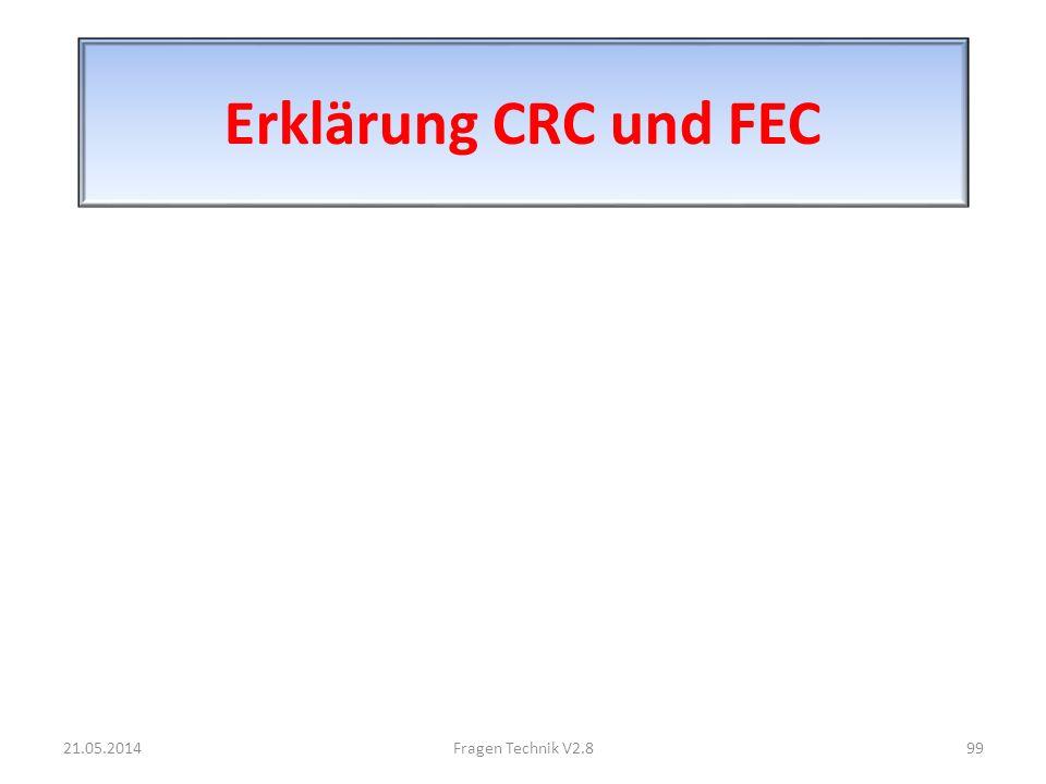 Erklärung CRC und FEC 21.05.201499Fragen Technik V2.8