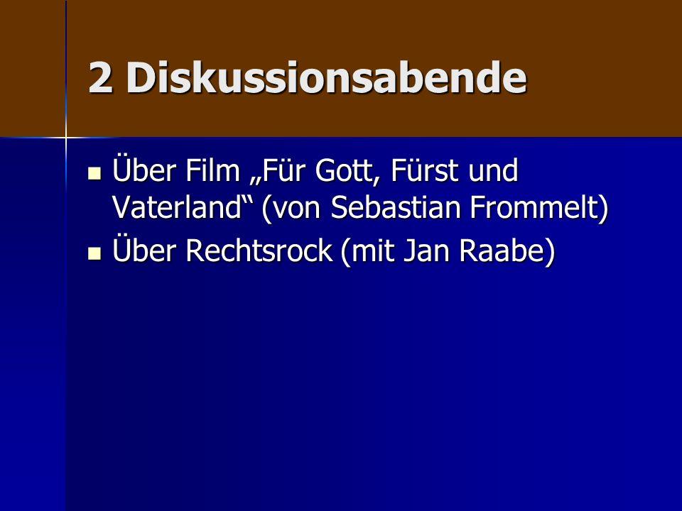 2 Diskussionsabende Über Film Für Gott, Fürst und Vaterland (von Sebastian Frommelt) Über Film Für Gott, Fürst und Vaterland (von Sebastian Frommelt)