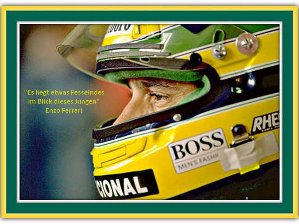 Zwölf Stunden am Tag beschäftige ich mich mit meinem Auto, die restlichen zwölf Stunden denke ich darüber nach. Ayrton Senna