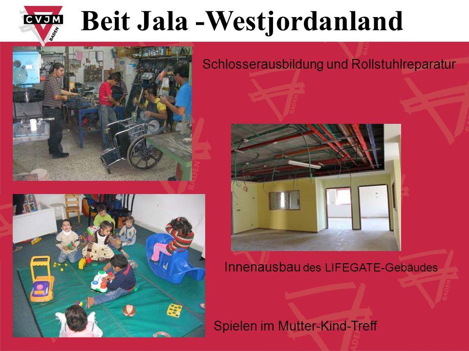 Schlosserausbildung und Rollstuhlreparatur Spielen im Mutter-Kind-Treff Innenausbau des LIFEGATE-Gebäudes