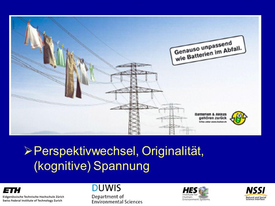Perspekitvwechsel -> Betroffenheit Persönliche Ansprache, Originalität -> Interesse