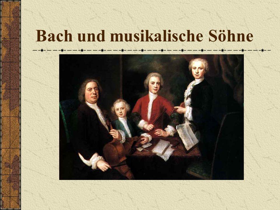 Freude und Leid in der Familie 1720 Tod der Ehefrau Maria Barbara 1721 heiratet er die Sängerin Anna Magdalena Wilcken Zu den sieben Kindern kommen dr