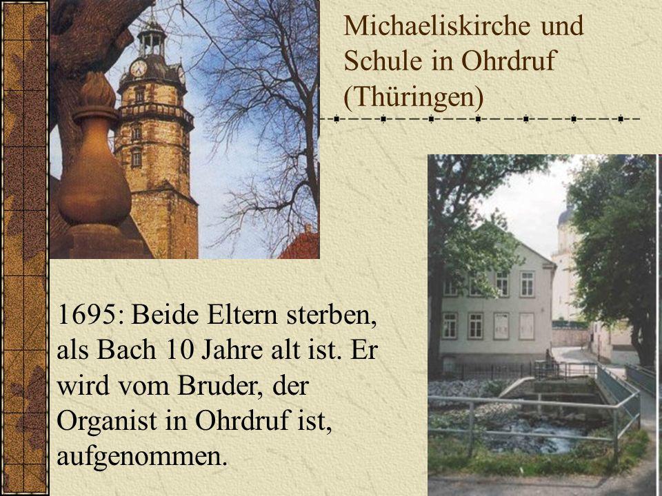 21.März 1685 Johann Sebastian Bach wird in Eisenach in einer Musikerfamilie geboren. Er ist das sechste Kind des Eisenacher Ratsmusikers Johann Ambros