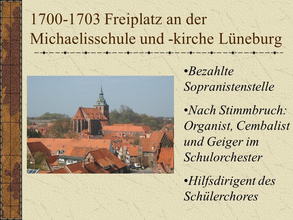 Michaeliskirche und Schule in Ohrdruf (Thüringen) 1695: Beide Eltern sterben, als Bach 10 Jahre alt ist. Er wird vom Bruder, der Organist in Ohrdruf i