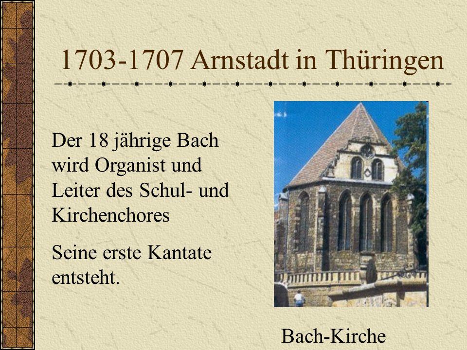 1700-1703 Freiplatz an der Michaelisschule und -kirche Lüneburg Bezahlte Sopranistenstelle Nach Stimmbruch: Organist, Cembalist und Geiger im Schulorc