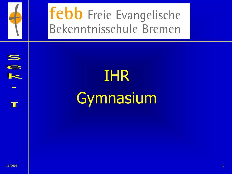 11/20081 IHR Gymnasium