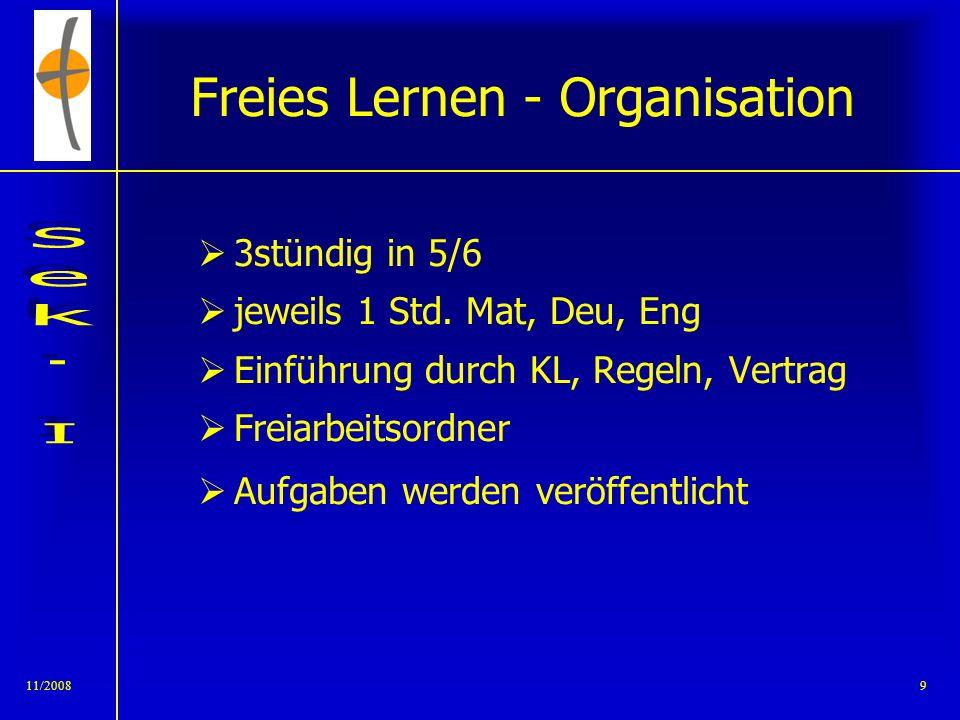 11/20088 Sozialkompetenz Morgenkreis Andacht Thema (Schüler) Ämter (Präsident, Protokoll, Helfer) Vereinbarung von Gesprächsregeln Förderung der Selbs