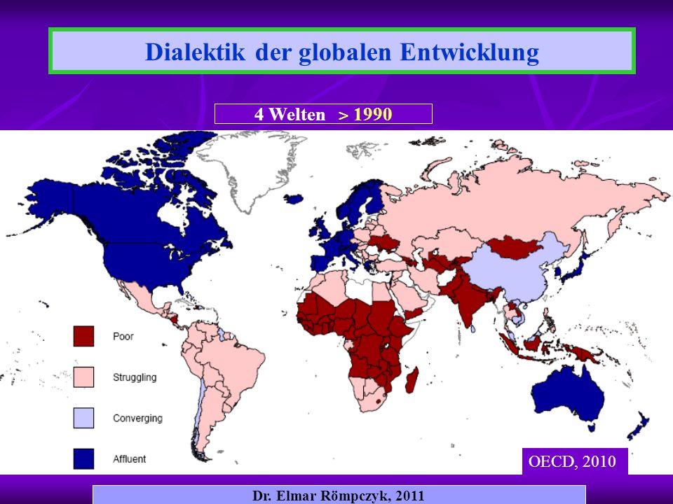 Dialektik der globalen Entwicklung Dr. Elmar Römpczyk, 2011 4 Welten ˃ 1990 OECD, 2010