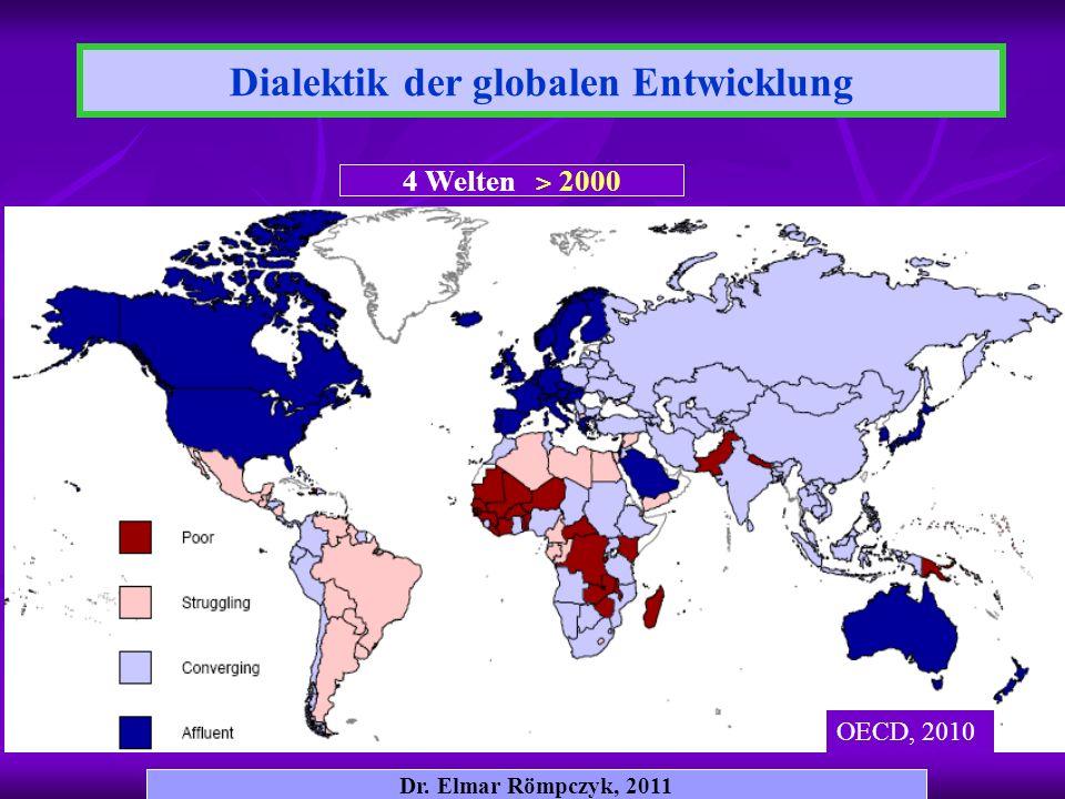 Dr. Elmar Römpczyk, 2011 4 Welten ˃ 2000 OECD, 2010 Dialektik der globalen Entwicklung
