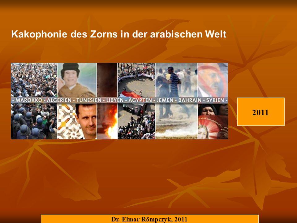 Dr. Elmar Römpczyk, 2011 Kakophonie des Zorns in der arabischen Welt 2011