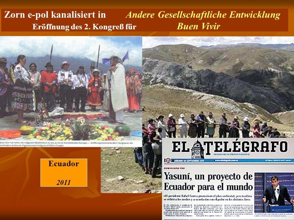 Zorn e-pol kanalisiert in Andere Gesellschaftliche Entwicklung Eröffnung des 2. Kongreß für Buen Vivir Ecuador 2011