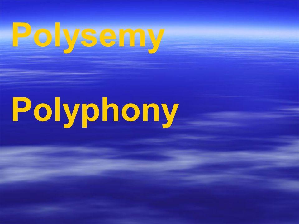 Polysemy Polyphony