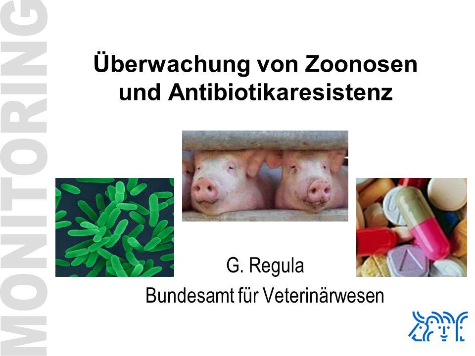 Überwachung von Zoonosen und Antibiotikaresistenz G. Regula Bundesamt für Veterinärwesen