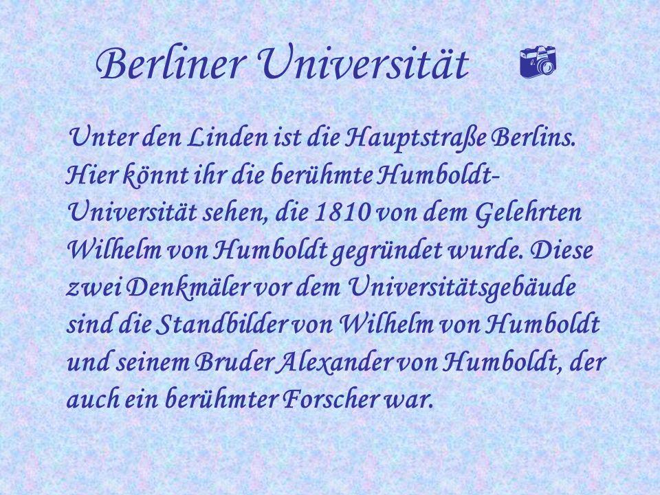 Alex Der Alexanderplatz – ihr wißt, daß er seinen Namen dem russischen Zaren Alexander dem Ersten zu Ehren bekommen hat. Die Berliner nennen ihn liebe