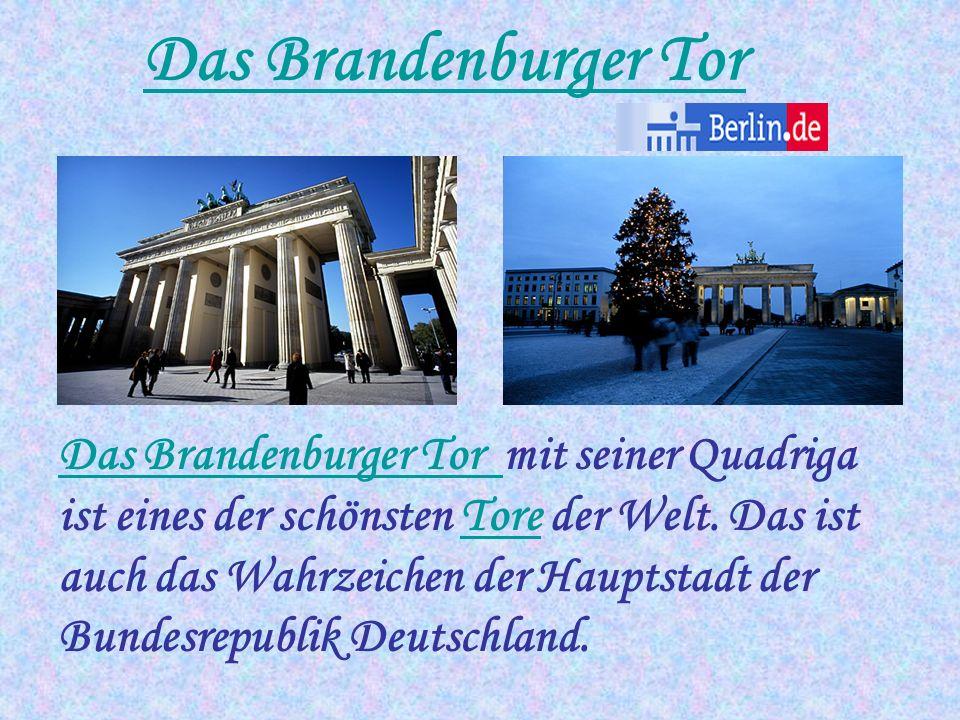 Berlin liegt im Zentrum Europas ist die Hauptstadt der Bundesrepublik Deutschlands ist die größte Stadt Deutschlands ist eines der 16 Bundesländer der BRD hat etwa 3,4 Mio Einwohner nimmt 883 km² ein