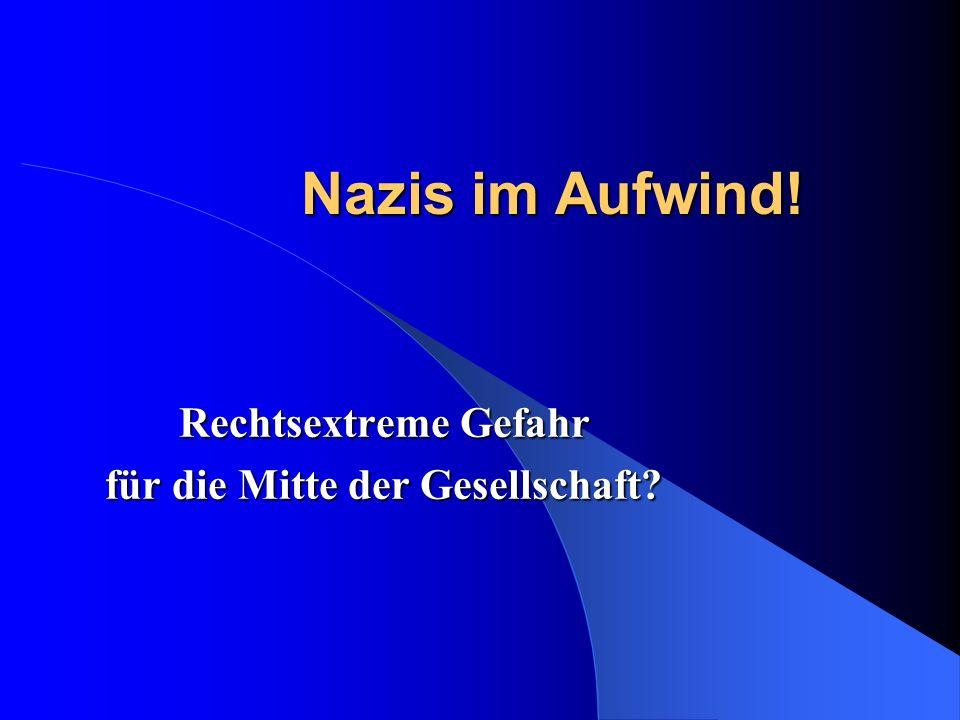 Nazis im Aufwind.Rechtsextreme Gefahr für die Mitte der Gesellschaft.