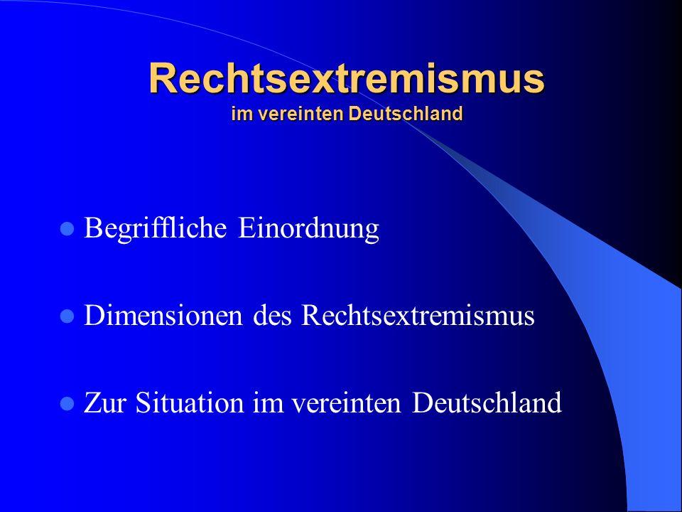 Begriffliche Einordnung Es gibt keine klare Definition Facettenreicher Sammelbegriff für verschiedene Einstellungsmuster Einordnung im Extremismus-Modell