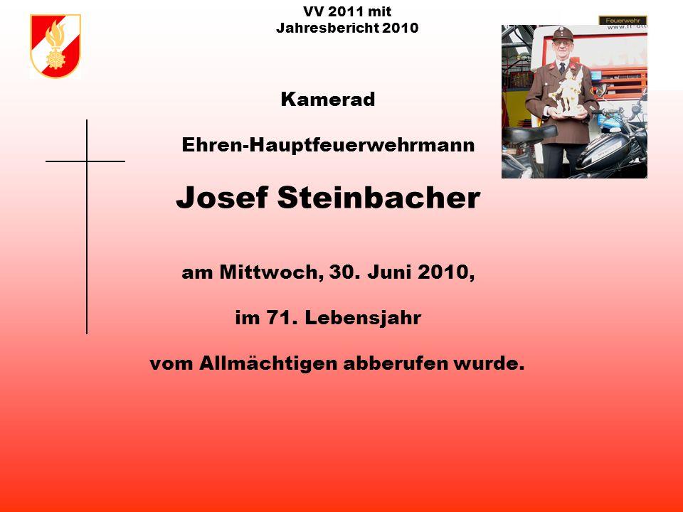 VV 2011 mit Jahresbericht 2010 Kamerad Ehren-Amtswalter Heinrich Brenneis am Samstag, 17.