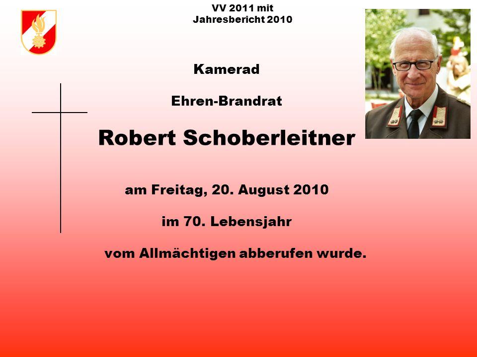 VV 2011 mit Jahresbericht 2010 Kamerad Ehren-Hauptfeuerwehrmann Josef Steinbacher am Mittwoch, 30.