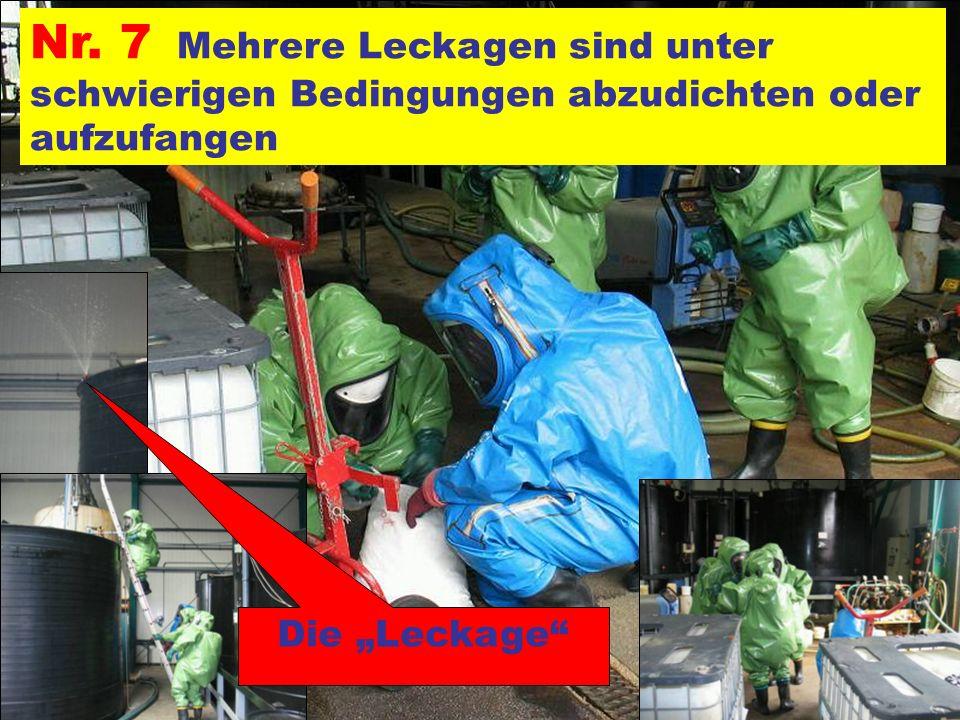 Pressegruppe der FF Ottnang a.H. Nr. 7 Mehrere Leckagen sind unter schwierigen Bedingungen abzudichten oder aufzufangen Die Leckage