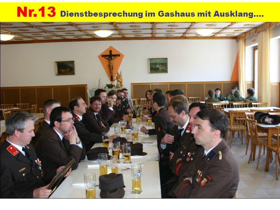 Nr.13 Dienstbesprechung im Gashaus mit Ausklang….