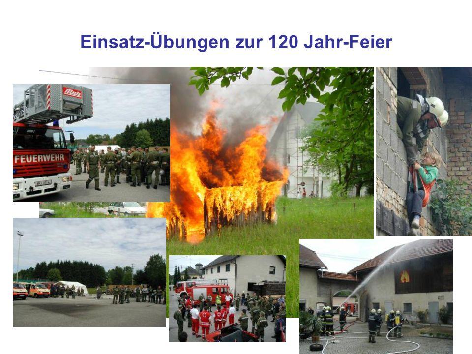 Einsatz-Übungen zur 120 Jahr-Feier