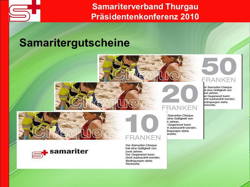 Samariterverband Thurgau Präsidentenkonferenz 2010 Samaritergutscheine