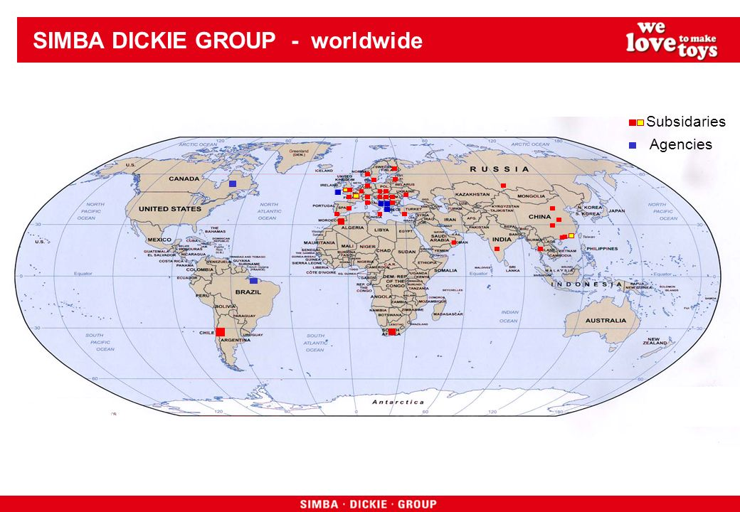 SIMBA DICKIE GROUP - worldwide Subsidaries Agencies