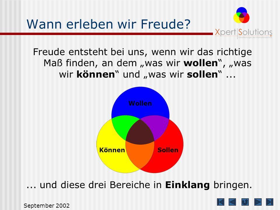 September 2002 Standardmodus Der Standardmodus dient dem mit XS target vertrauten Anwender.