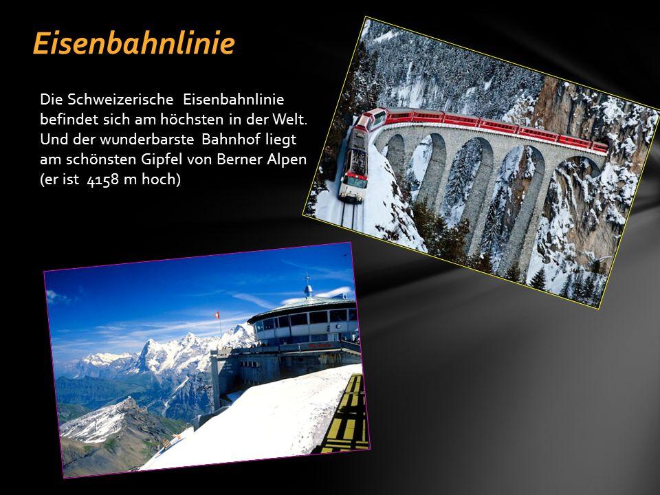 Die Schweizerische Eisenbahnlinie befindet sich am höchsten in der Welt.
