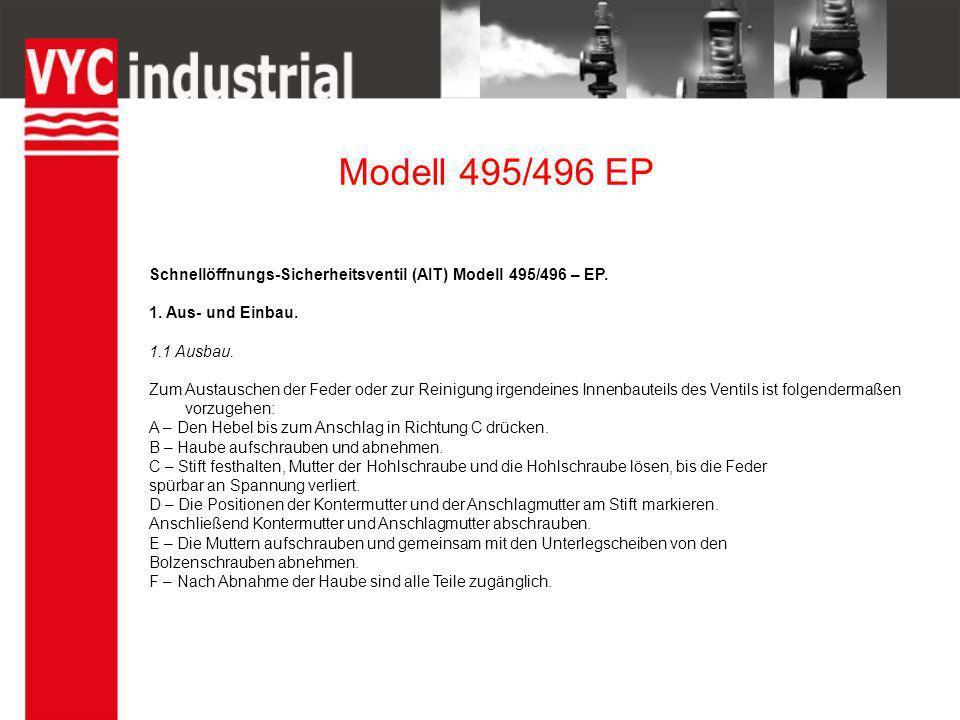 Modell 495/496 EP 1.2 Einbau.