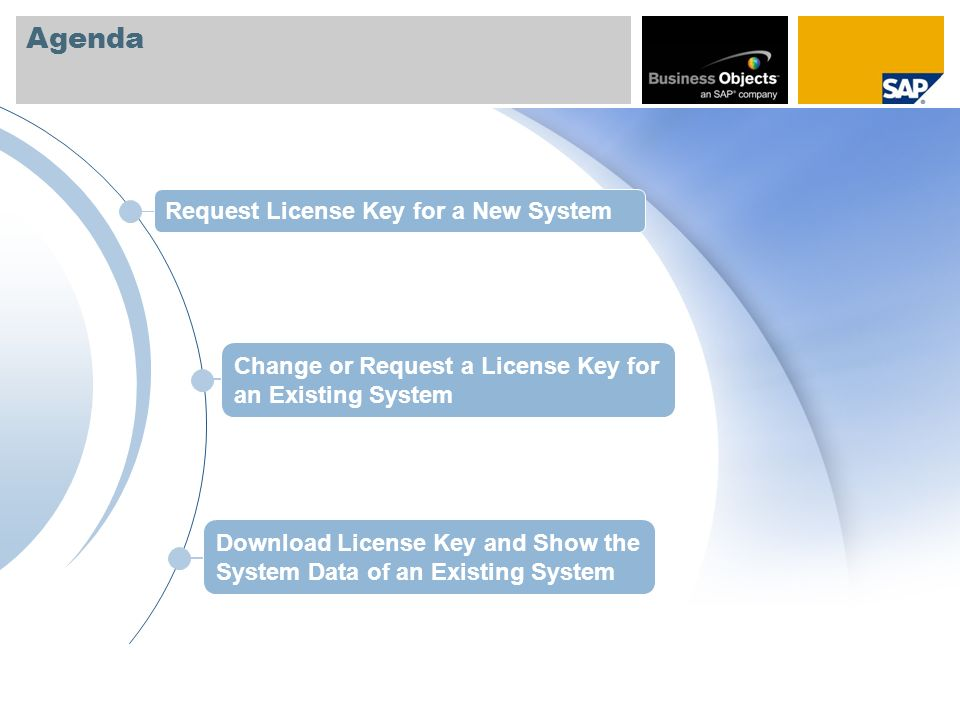 Changing The System Data of an Existing System or Requesting a New License Key – Hardware Data The changed entries will be shown here