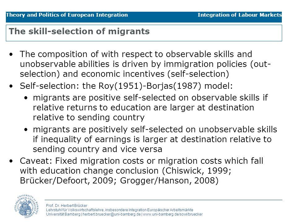 Prof. Dr. Herbert Brücker Lehrstuhl für Volkswirtschaftslehre, insbesondere Integration Europäischer Arbeitsmärkte Universität Bamberg | herbert.bruec